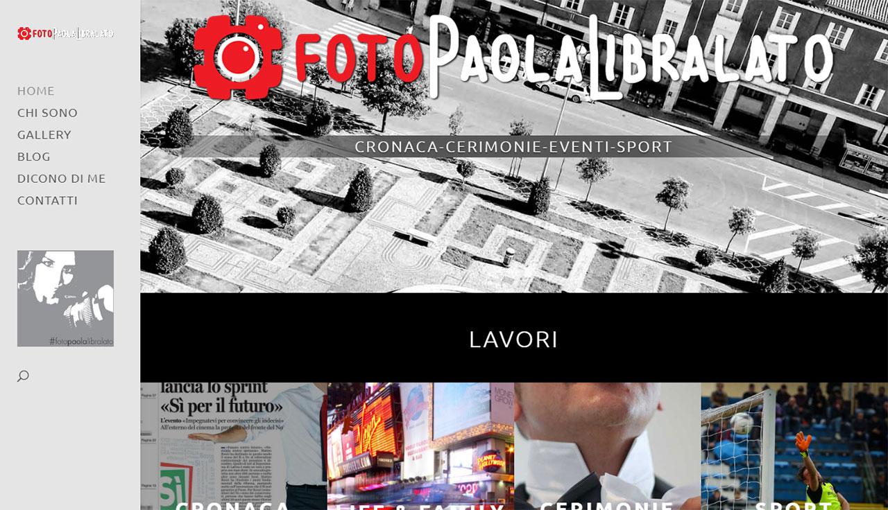 Portfolio: il sito di Paola Libralato, Home Page