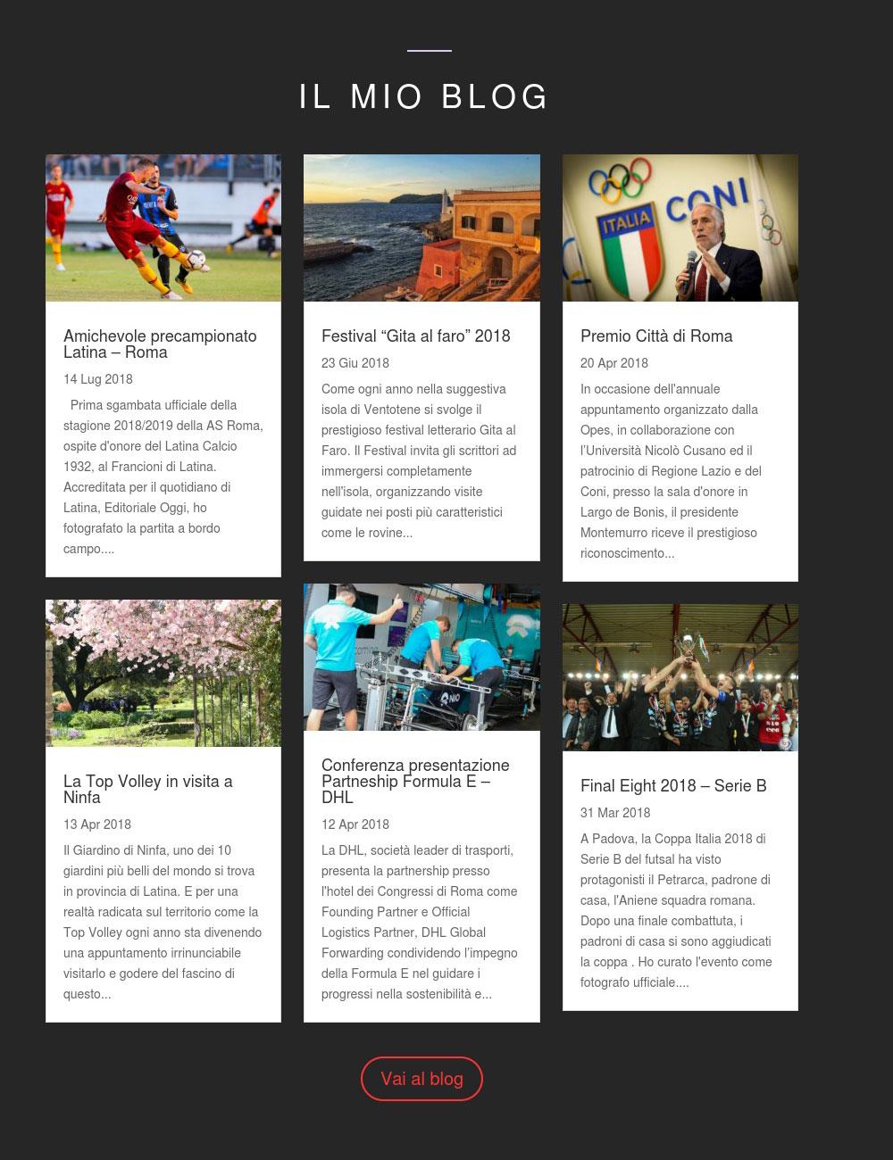 Portfolio: il sito di Paola Libralato, Dettaglio Blog