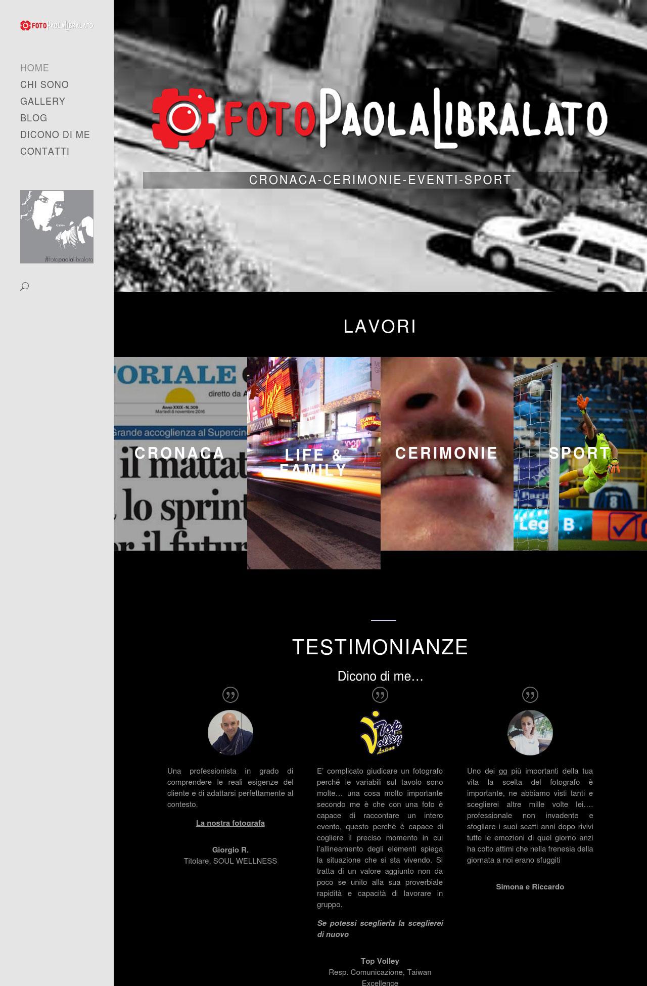 Portfolio: sito Paola Libralato
