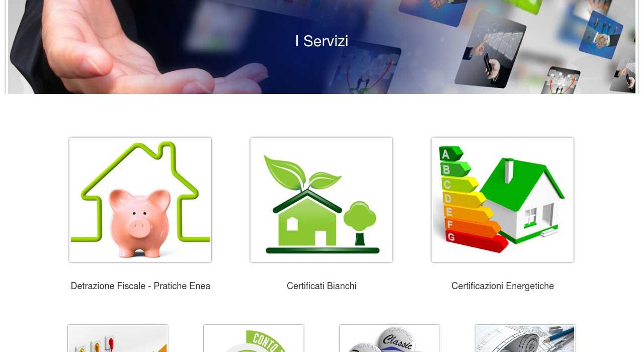 Portfolio: il sito di renueva, sezione i servizi